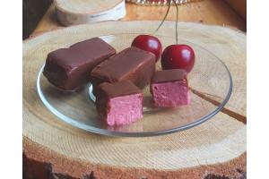 Мини-пирожное «Птичье молочко» вишнёвое